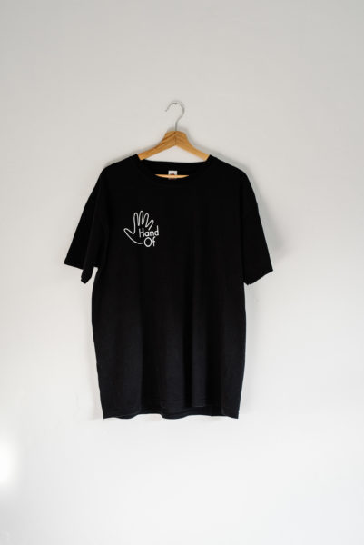 Hand Of short sleeve t-shirt (front)