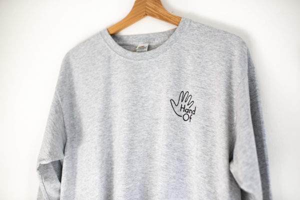 Hand Of long sleeve t-shirt (front detail)